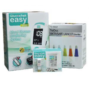 เครื่องตรวจน้ำตาลในเลือด / วัดเบาหวาน GLUCOCHEK EASY PRO