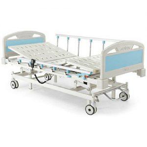 เตียงผู้ป่วย 3 ไก ไฟฟ้า แบบราวสไลด์ เตียงสูงจากพื้น 50 ซม.รับน้ำหนักได้ 150 กิโลกรัม