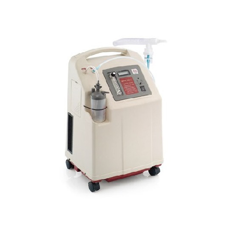 เครื่องผลิตออกซิเจนขนาด 5 ลิตร พ่นยาได้ แถมที่วัดออกซิเจนปลายนิ้ว ยี่ห้อ YUWELL รุ่น 7F-5W