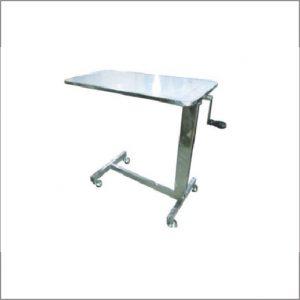 โต๊ะคร่อมเตียง Overbed สเตนเลส