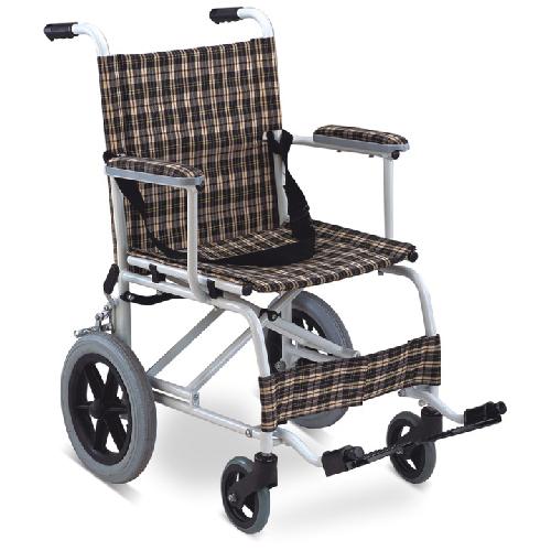 รถเข็นผู้ป่วยอลูมิเนียม ล้อเล็ก รุ่น FS805LB รับน้ำหนักได้ 100 กิโลกรัม
