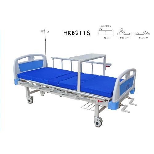 3 เตียงผู้ป่วย 2 ไก มือหมุน ขาเตียงแบบเหลี่ยม หัว-ท้ายเตียง ABS เตียงสูงจากพื้น 50 ซม.รับน้ำหนักได้ 150 กิโลกรัม