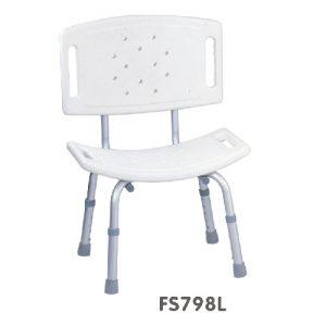 เก้าอี้นั่งอาบน้ำ รุ่น 798L ทำจากอลูมิเนียมเคลือบกันสนิม ปรับระดับสูง-ต่ำได้ 5 ระดับ