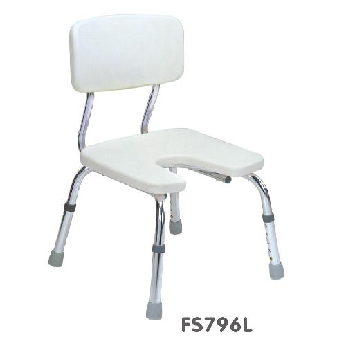 เก้าอี้นั่งอาบน้ำ รุ่น 796L ทำจากอลูมิเนียมเคลือบกันสนิม ปรับระดับสูง-ต่ำได้ 5 ระดับ ราคา