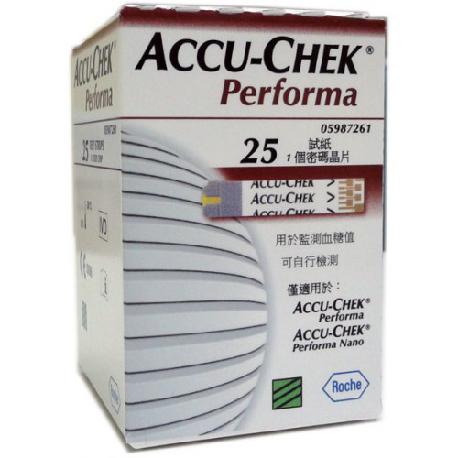 แผ่นตรวจน้ำตาลในเลือด สำหรับ ACCU-CHEK PERORMA