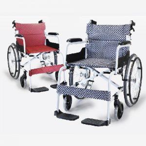 รถเข็นผู้ป่วยผู้สูงอายุ / Wheelchair SOMA 150.5 แบบอลูมิเนียม มือจับพับลงได้ รับน้ำหนักได้ 100 กิโกกรัม สินค้าขายดี