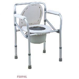 เก้าอี้นั่งถ่าย พร้อมถัง รุ่น FS894L อลูมิเนียมอัลลอยด์ น้ัำหนักเบา