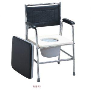 เก้าอี้นั่งถ่าย พร้อมถัง รุ่น FS893 พับเก็บไม่ได้ ปรับระดับสูง-ต่ำได้ 5 ระดับ